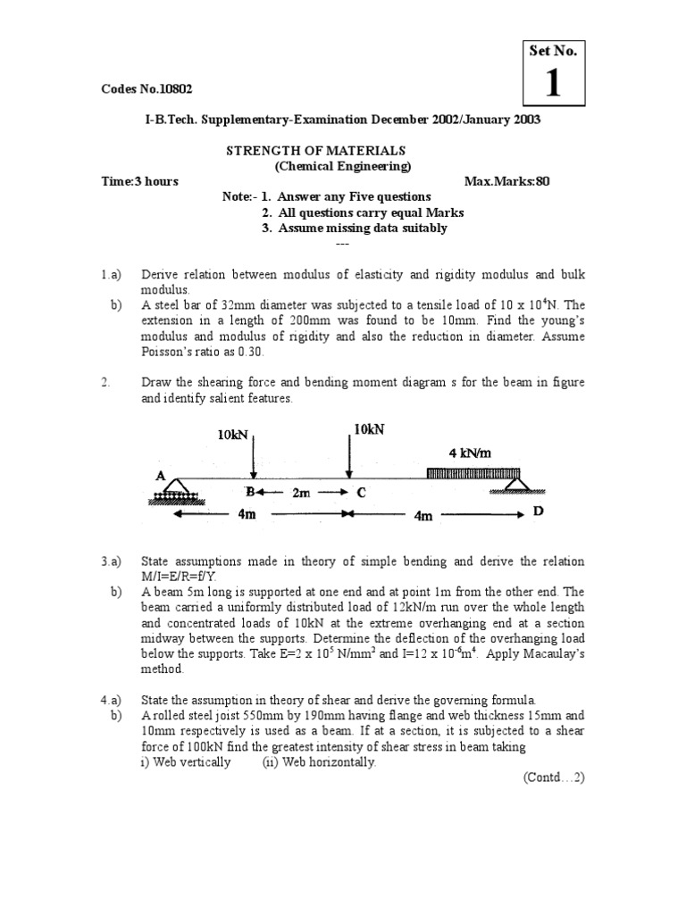 Nr 10802 Strength Of Materials Bending Stress Mechanics Moment Diagram Under Horizontal Loading