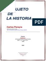 Carlos Pereyra El Sujeto de La Historia