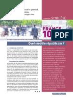 Synthese  Quel modèle républicain dans 10 ans strategie gouvernement français PS