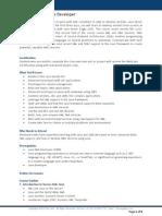 Advanced Java Web Developer