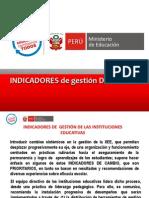 1-Indicadores de   gestión  de las  IIEE