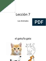 Lesson 7 Los Animales