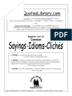 Sayings Idioms Cliches