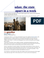 South Sudan the State That Fell Apart in a Week