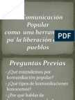 Komunikación Popular komo herramienta de lucha