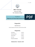 Updated Term Paper on Migration & Women Empowerment in Dhaka