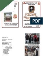 Folleto de Folklore de San Jose 2013
