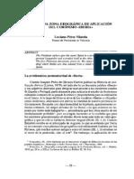 Pérez Vilatela Luciano  Primitiva zona geográfica de aplicación del corónimo Iberia