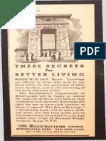 AMORC - 1941 Ad for The Secret Heritage.