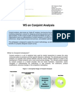 W5 on Conjoint Analysis