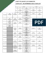 Date Sheet JAN13