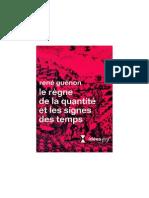 Rene Guenon Le Signe Des Temps