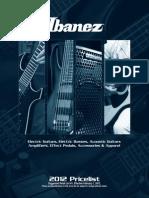2012 Ibanez WinterPricelist
