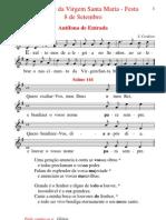 Cânticos da Missa da Natividade de Nª Sr.ª