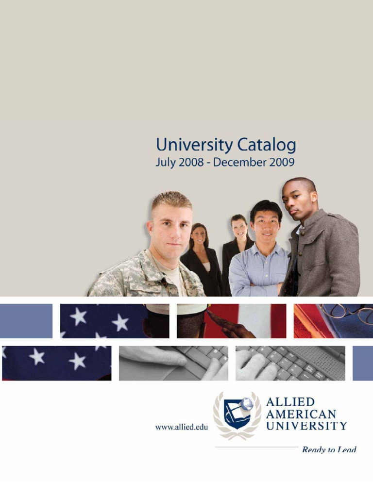 Allied American University Online Course Catalog   Distance Education    Academic Degree
