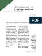 Araldi2012_Representações sociais de professores sobre o uso abusivo de álcool e outras drogas na adolescência - repercussões nas ações de prevenção na escola