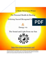 Making Structured Healing Water
