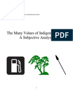 The Many Values of Indigenous Land: A Subjective Analysis