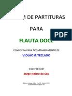 Album de Partituras Para Flauta Doce 2011 Jorge Nobre