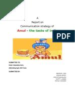 Project Report on Amul Sec b
