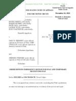 Amendment 3 Motion for Stay Denied