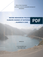 Water Resources policies and climate change in Algeria