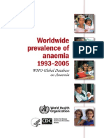 Worldwide Prevalence of Anaemia 1993-2005