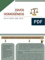 ACTOS LESIVOS HOMOGÉNEOS