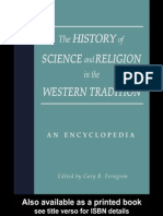 The History of Science and Religion in the Western Tradition. an Encyclopedia