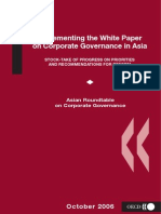 Implementing the White Paper on Corporate Governance in Asia - Stock-Take of Progress on Priorities and Recommendations for Reform - October 2006 - OECD