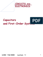 Capacitors And First-Order Systems