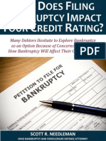 How Does Filing Bankruptcy Impact Your Credit Rating?