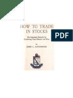 Jesse Livermore How to Trade