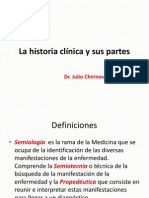 La historia clínica y sus partes