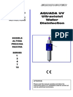 Wedeco UV Systems AQUADA Altima, Proxima, Maxima