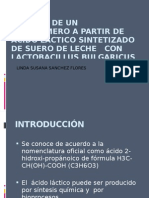 presentacion SÍNTESIS DE UN BIOPOLIMERO A PARTIR DE  ACIDO