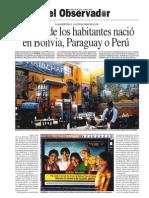 El 10% de los habitantes de Argentina nació en Bolivia, Paraguay o Perú