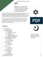 Abrahamic Religions - Wikipedia, The Free Encyclopedia