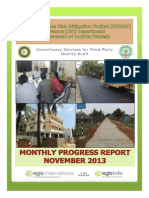 National Cyclone Risk Mitigation Project Third Party quality Audit Monthly Progress Report November 2013