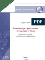 Transformacja i społeczeństwo obywatelskie w Polsce