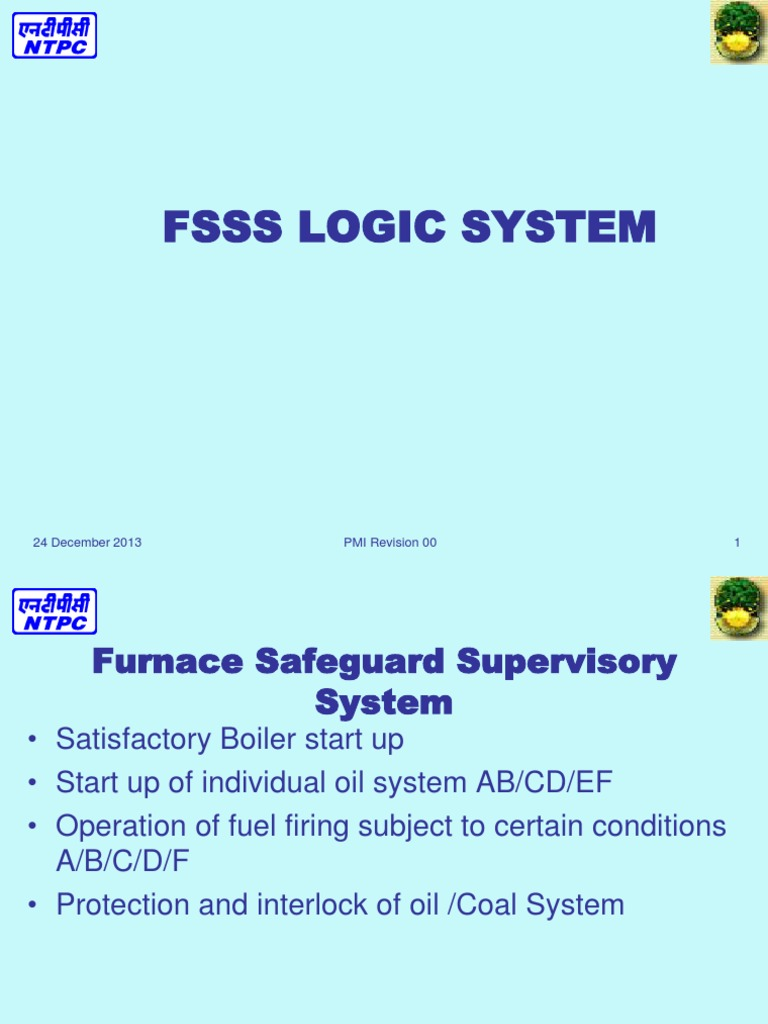FSSS LOGIC SYSTEM.ppt | Furnace | Energy Production
