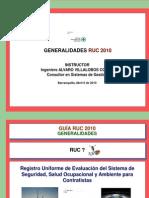 Generalidades RUC 2012 - Septiembre 14 de 2013