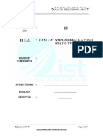 Pitot Tube Lab Manual