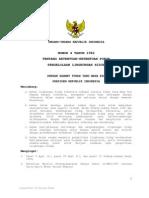 Undang Undang Nomor 4 Tahun 1982 tentang Ketentuan Pokok Pengelolaan Lingkungan Hidup