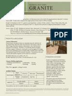 Granite Material Fact Sheet 022509