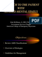 Approach to the Patient With AMS