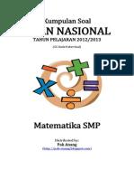 Naskah Soal UN Matematika SMP 2013 (55 Paket Soal) Pak-Anang.blogspot.com
