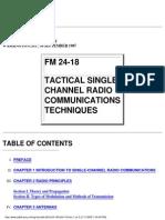 FM 24-18 Tactical Single-Channel Radio Communications Techniques