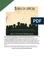 Macdonald-Kultur Der Kritik