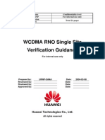 WCDMA RNO Single Site Verification Guidance-20040716-A-1.1